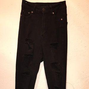 Brand New distressed Fashion Nova Jeans